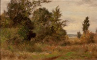 rural summer landscape by albert babb insley
