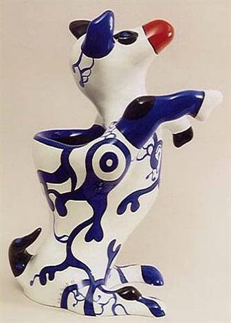dog vase by niki de saint phalle