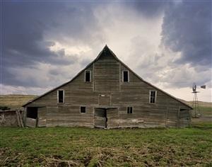 cash meier barn, shadbolt ranch, cherry county, nebraska, from the series dirt meridian by andrew moore