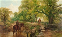 sweet summertime (at the ford) by frederick william hulme