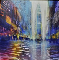 times square atmosphere (sold) by david allen dunlop