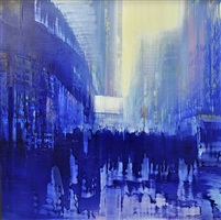 nyc, bus stop (sold) by david allen dunlop