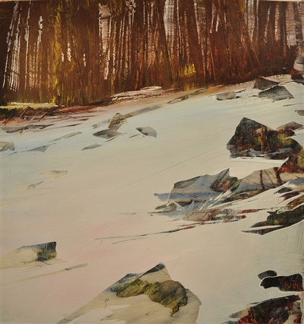 early spring snow (sold) by david allen dunlop