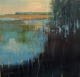 evening marsh reflections by david allen dunlop
