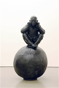 man with ball 3 by wang shugang