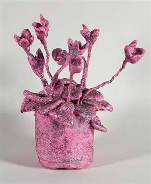 flower pink by yayoi kusama