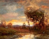 sunset landscape by charles p. appel