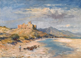 the ruined castle, southern spain by edward seago
