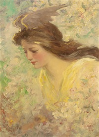 young flora maiden by frederick stuart church