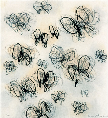 untitled (butterflies) by louisa chase