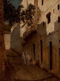 street scene in algiers by william sartain