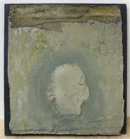 self-portrait, the back – green by zhang hongtu