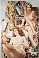 mercury and accordion ii by philip pearlstein