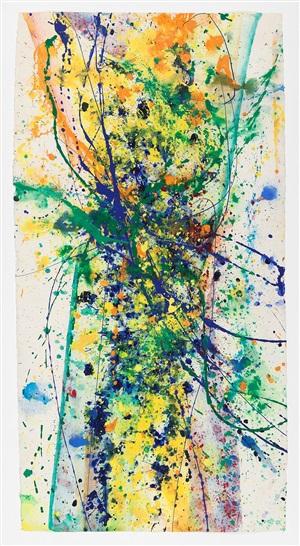 untitled - sf90-171 by sam francis