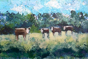 deer creek herefords #2 by theodore waddell