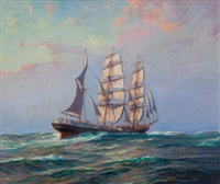 bark coriolanus, last of the windjammers by frank vining smith