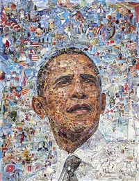 obama (pictures of magazine 2) by vik muniz