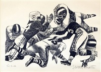 line of scrimmage by fletcher martin
