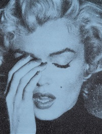 marilyn crying (alice blue + black) by russell young