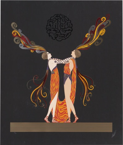 love and passion suite the marriage dance kiss of fire pair by erté