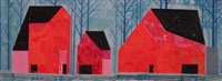 three barns by eyvind earle