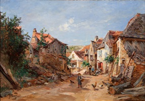 rue du village by edmond marie petitjean