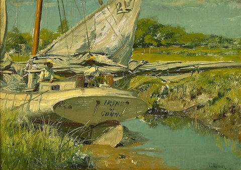 oyster boat, long island sound by gilbert gaul