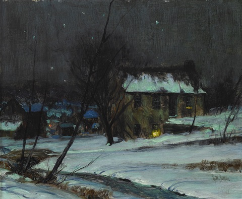 bucks county nocturne by george william sotter