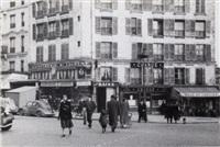 corner of strasbourg and magenta boulevard, paris by todd webb