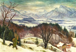 salzburger berge im winter / salzburg mountains in winter by albert birkle