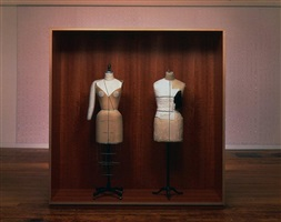 untitled (mannequins, bamana hunter's tunic) by haim steinbach