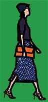 dots woman by julian opie