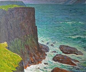 la grande falaise, thurso, ecosse by maxime maufra