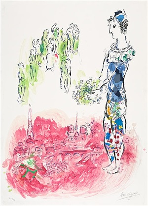 the magician of paris ii by marc chagall