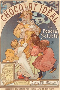chocolat ideal by alphonse mucha