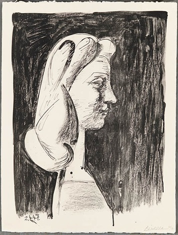 grand profil (large profile) by pablo picasso