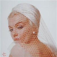 marilyn monroe in hat and veil (from the last sitting) by bert stern