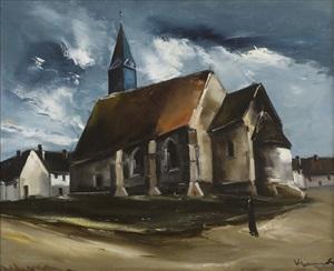 église en bretagne by maurice de vlaminck