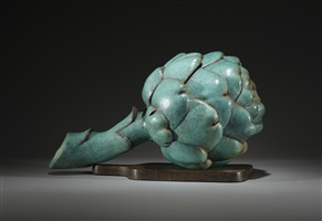 artichoke on a chopping board by luis montoya and leslie ortiz
