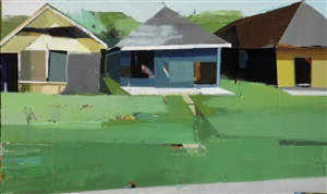 three huts and lush green by siddharth parasnis