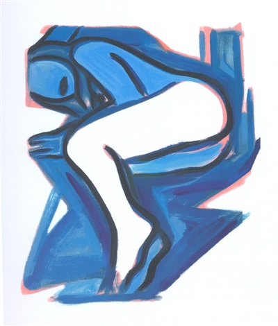 blue nude #3 by tom wesselmann