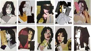 mick jagger (set of 10) by andy warhol