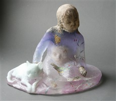 cat with girl by christina bothwell
