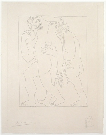 vertumne poursuit pomone de son amour (from ovid's metamorphoses) by pablo picasso