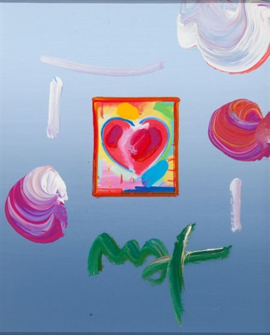 heart series ver i 431 and 432 pair by peter max