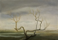 tree on the marsh by helen lundeberg