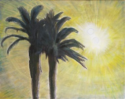 two palms, evening ii by frederick s. wight