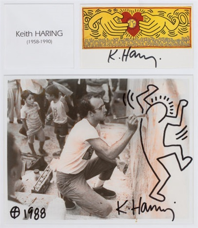 haring painting a city wall by keith haring