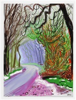 the arrival of spring in woldgate, east yorkshire in 2011 (twenty eleven) - 1 january by david hockney