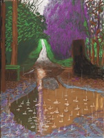 the arrival of spring in woldgate, east yorkshire in 2011 (twenty eleven) - 18 december by david hockney